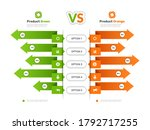 comparison chart. infographic... | Shutterstock .eps vector #1792717255