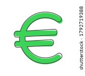 vector image of the euro sign...