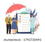 elderly health insurance.... | Shutterstock .eps vector #1792720492