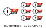 countdown left days . days to... | Shutterstock .eps vector #1792729348