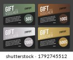 vector voucher gift card design ... | Shutterstock .eps vector #1792745512