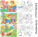 goldilocks and the three bears. ... | Shutterstock . vector #1792746265