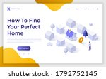 landing page template with man...   Shutterstock .eps vector #1792752145