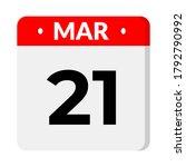 21 march calendar icon  vector... | Shutterstock .eps vector #1792790992