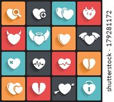 heart icons   symbols. abstract ...   Shutterstock .eps vector #179281172