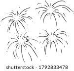 cartoon firework vintage ...   Shutterstock .eps vector #1792833478