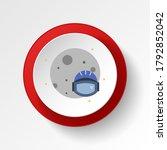 astronaut colored button icon....