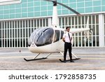 Portrait Of Helicopter Pilot In ...
