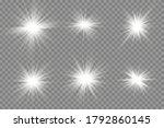white glowing light explodes on ... | Shutterstock .eps vector #1792860145