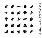 vegetable icon set vector solid ...   Shutterstock .eps vector #1792863535