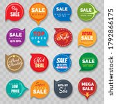 quality badges and sticker set... | Shutterstock .eps vector #1792866175