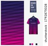 blue pink gradient geometry... | Shutterstock .eps vector #1792875028