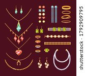 jewelry items set. fashionable... | Shutterstock .eps vector #1792909795