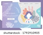 landing page about fashion... | Shutterstock .eps vector #1792910905