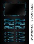 streaming overlay display panel ... | Shutterstock .eps vector #1792934338