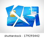 broken credit card default debt ... | Shutterstock .eps vector #179293442