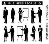 flipcharts with business people ... | Shutterstock .eps vector #179293622