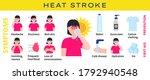 heat stroke info graphic vector.... | Shutterstock .eps vector #1792940548