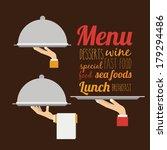 menu design over brown  ... | Shutterstock .eps vector #179294486