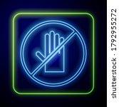 glowing neon no handshake icon...   Shutterstock .eps vector #1792955272