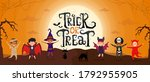 Trick Or Treat Scary Text With...