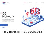 isometric 5g network vector...