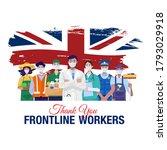thank you frontline workers.... | Shutterstock .eps vector #1793029918