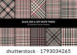 Glen Pattern Set In Black  Red  ...
