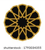 anatolian seljuk motif. islamic ... | Shutterstock .eps vector #1793034355