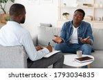 Stressed Black Man Explaining...