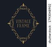 hand drawn filigree ornate... | Shutterstock .eps vector #1793048902
