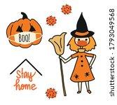 corona halloween vector... | Shutterstock .eps vector #1793049568