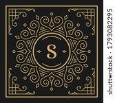 vintage monogram alphabet...   Shutterstock .eps vector #1793082295