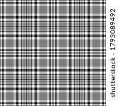 glen check pattern in black and ... | Shutterstock .eps vector #1793089492