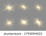 yellow glowing light explodes... | Shutterstock .eps vector #1793094022