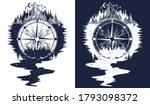 compass  mountains and river of ... | Shutterstock .eps vector #1793098372