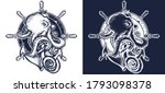 octopus  steering wheel ship... | Shutterstock .eps vector #1793098378
