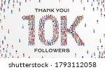 10k followers. group of...   Shutterstock .eps vector #1793112058