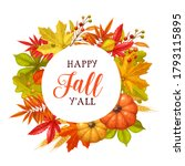 Happy Fall Y'all Circle Frame....