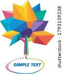 multicolored low poly model of... | Shutterstock .eps vector #1793139238