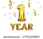 one year of birth. number 1... | Shutterstock .eps vector #1793145892