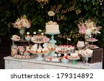 dessert table for a party.... | Shutterstock . vector #179314892