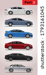 Set Of Vector Car Models In...