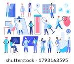 doctor medic people work vector ... | Shutterstock .eps vector #1793163595