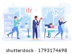 angry boss shouting at employee ...   Shutterstock .eps vector #1793174698