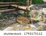 Clean Fresh Water Flowing From...