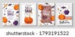 happy halloween promo sale... | Shutterstock .eps vector #1793191522