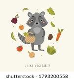 cute raccoon who loves... | Shutterstock .eps vector #1793200558