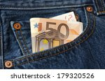 fifty euro banknote in the... | Shutterstock . vector #179320526