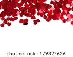 small red hearts confetti... | Shutterstock . vector #179322626